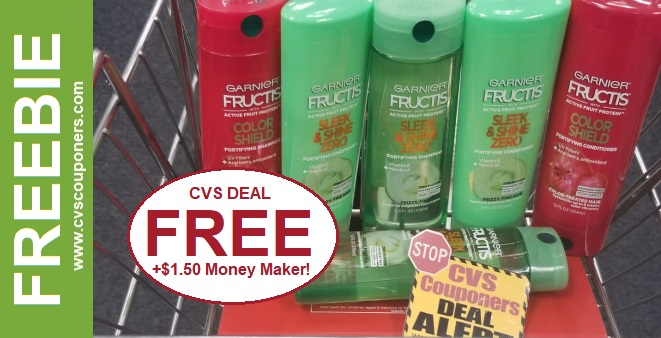 FREE Garnier Fructis Shampoo at CVS 1-12-1-18