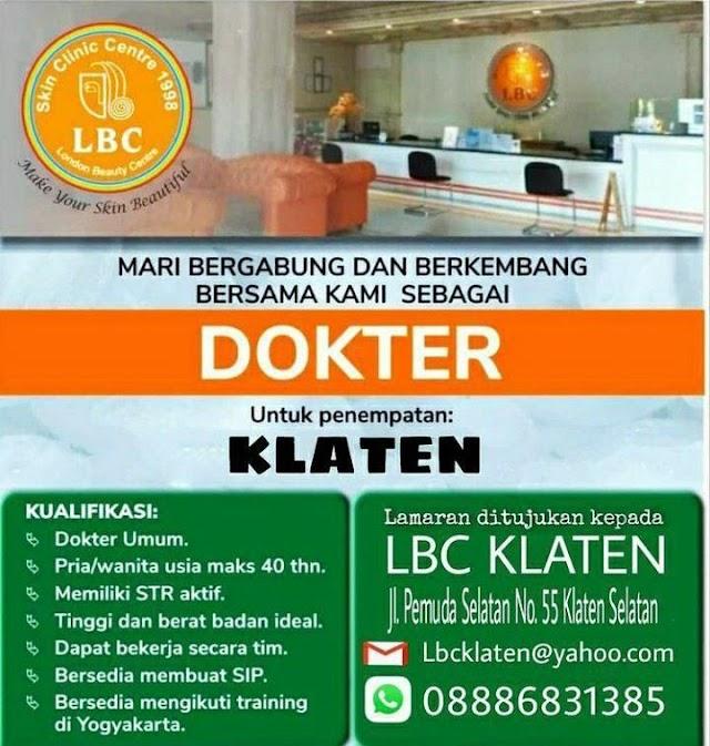 Loker Dokter LBC (London Beauty Center) Penempatan Klaten, Jawa Tengah