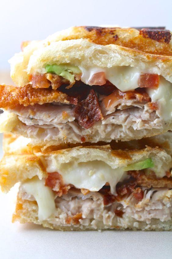 Turkey Bacon Avocado Paninis