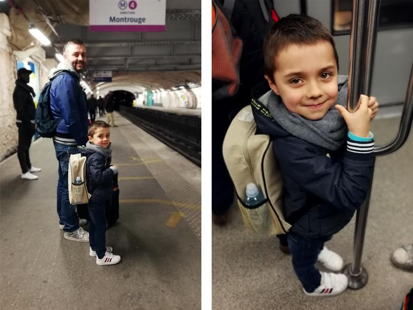 In de metro van Parijs