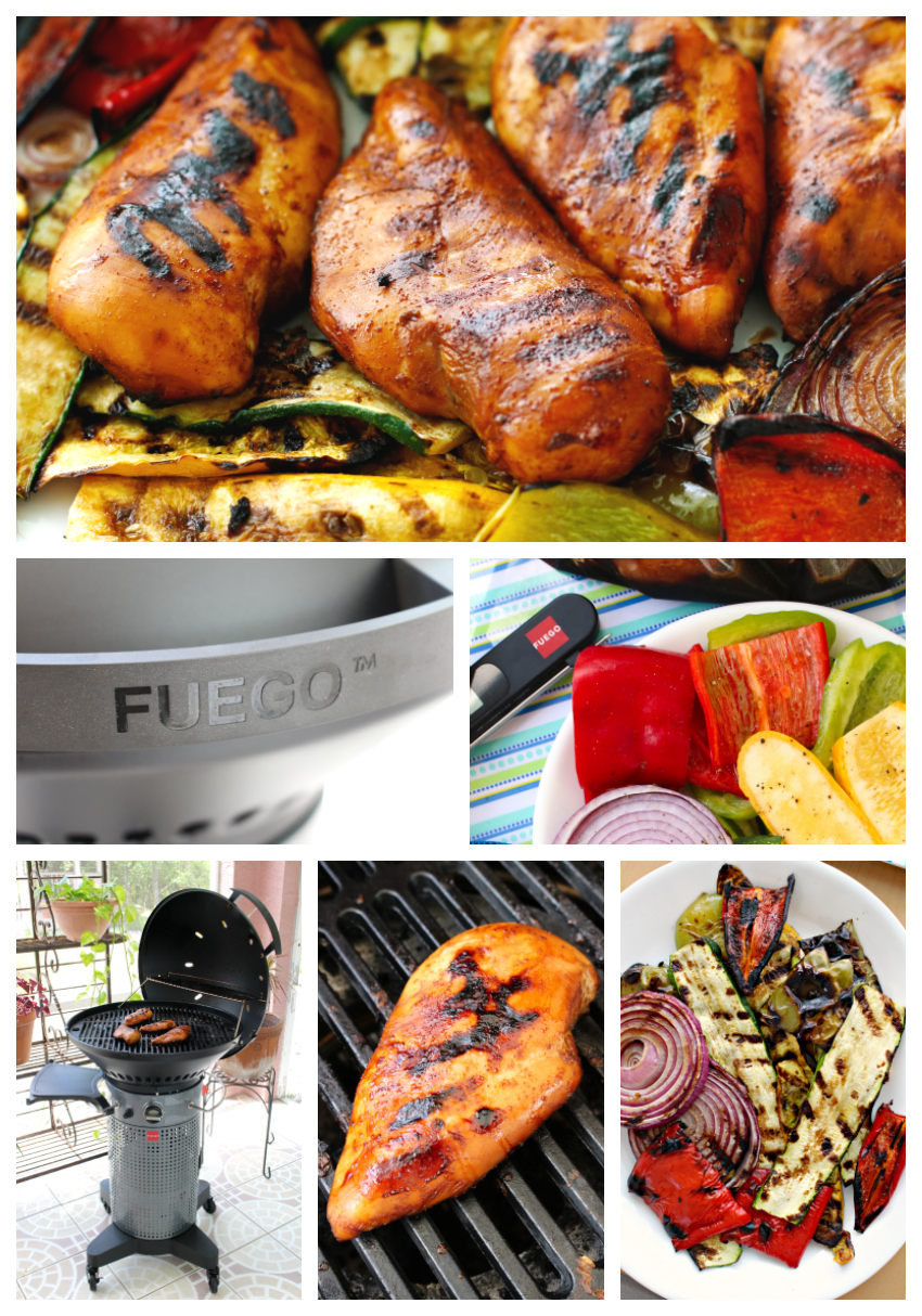 This Honey Teriyaki Grilled Chicken cooked on The Fuego Professional Gas Grill is juicy, tender, and bursting with bold flavor.  Check out my complete review of The Fuego Professional Grill and get the easy recipe for this delicious grilled chicken! #chicken #dinner #grilling #teriyaki