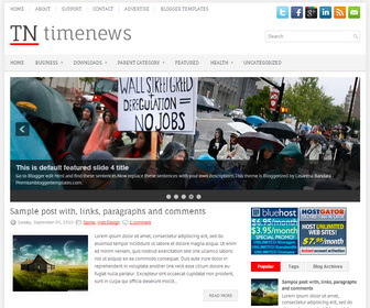 TimeNews Blogger Template