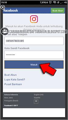 cara menghubungkan fb dengan instagram