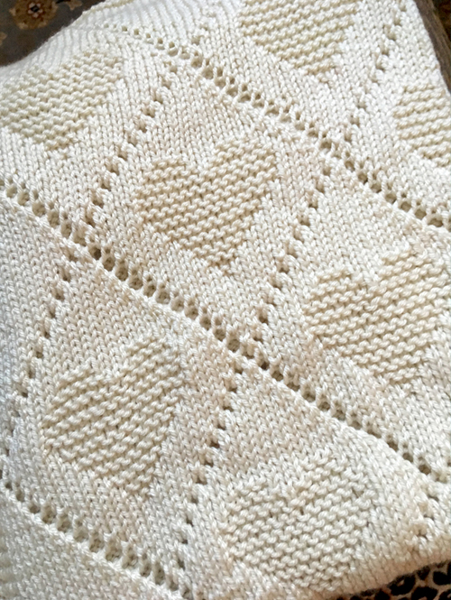 Diamond Love Baby Blanket - Knitting Pattern