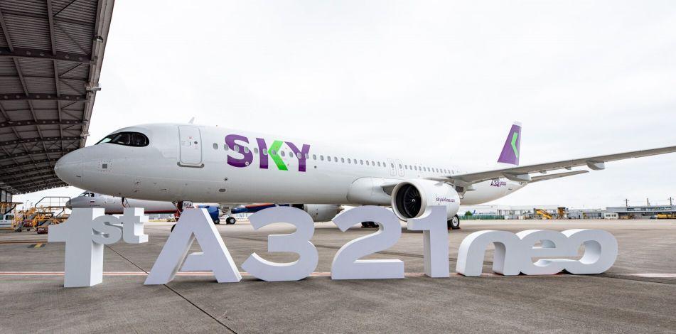 SKY do Chile recebe seu primeiro avião Airbus A321neo   É MAIS QUE VOAR