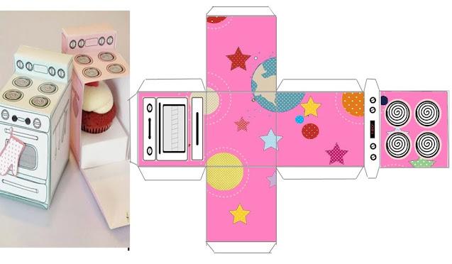 Astronaut Girls: Free Printable Oven Shaped Box.