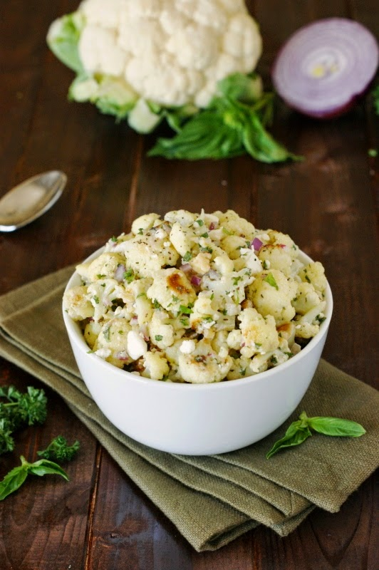 Roasted cauliflower salad the kitchen is my playground roasted cauliflower salad forumfinder Image collections