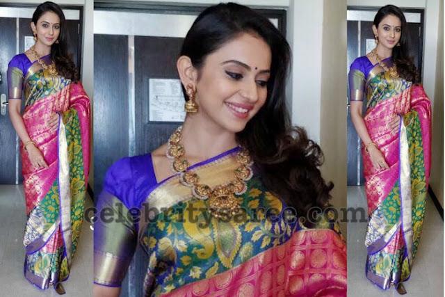 Rakul Preet Singh Pink Bridal Saree