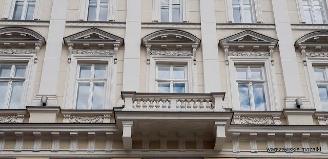 Warszawa Warsaw kamienica Pod Gryfami Fuchs renesans włoski architecture architektura warszawskie kamienice balkon