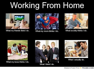What working from home is really like.