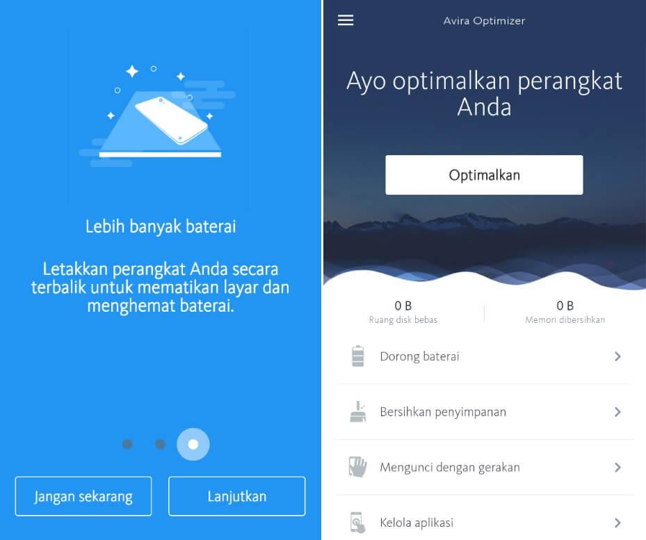 Aplikasi Avira Optimizer