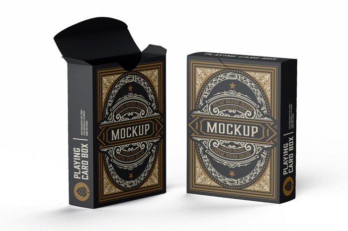 Box Fo Playing Cards Mockup PSD Free Download