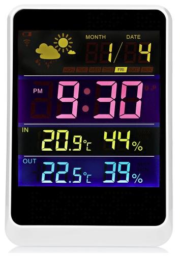 YGH391 Беспроводной термометр метеостанции гигрометр показатель температуры влажности с измерителем, часами, будильником Indoor Открытый зонд