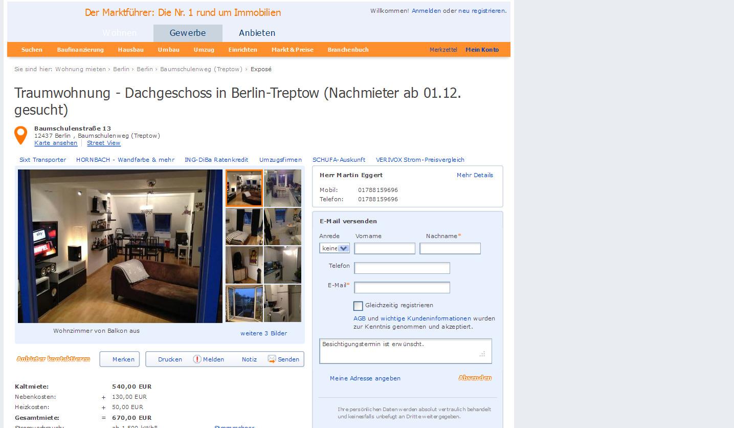 traumwohnung dachgeschoss in berlin treptow nachmieter ab. Black Bedroom Furniture Sets. Home Design Ideas