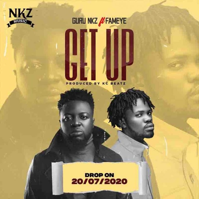 DOWNLOAD MP3: Guru Ft. Fameye _ Get Up (Prod.By KC Beatz).mp3.