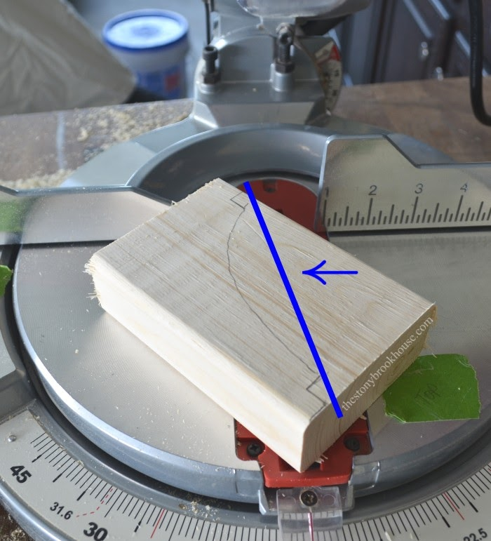 Cutting off more excess wood