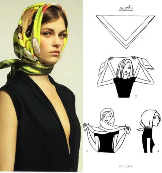 como amarrar lenço estilo vintage