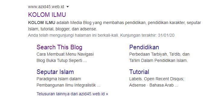 Cara Membuat Sitelink Search Box Di Blogger