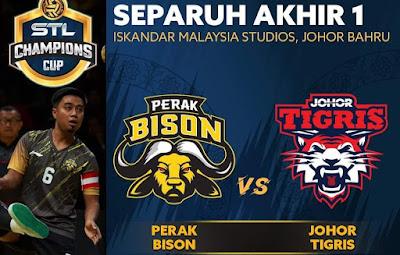 Live Streaming Perak Bison vs Johor Tigris STL Champions Cup 27.12.2019