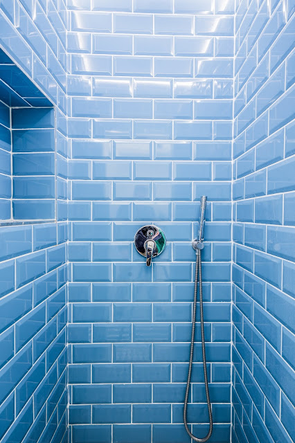 Blue tiled shower - show your personality