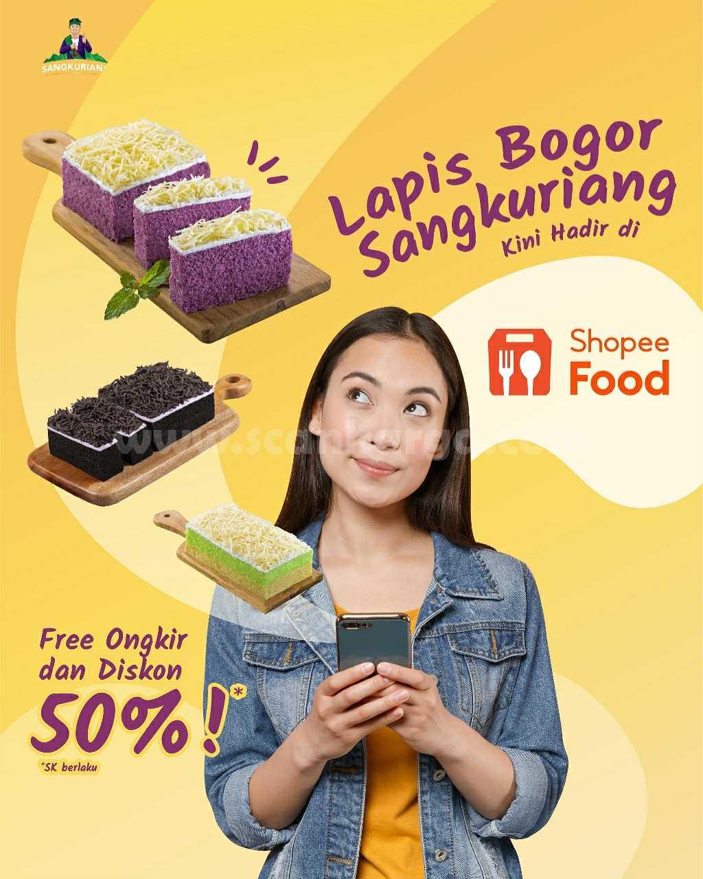 Promo Lapis Bogor Diskon 50% + Gratis Ongkir khusus pemesanan via ShopeeFood