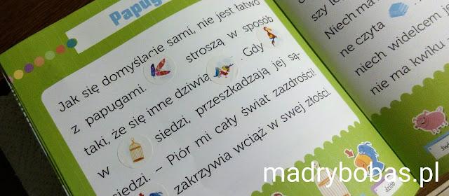 nauka czytania dla dzieci książeczka z naklejkami aksjomat