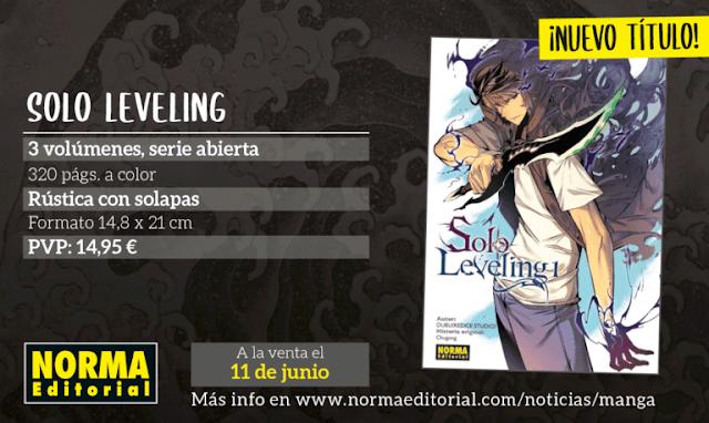 Solo Leveling licenciado por Norma Editorial.