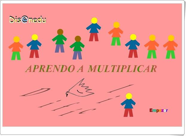 """""""Aprendo a multiplicar. Qué difícil 2"""" (Matemáticas de 2º y 3º de Primaria). Disanedu.com."""