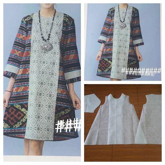 25 Model Baju Batik Gamis 2017