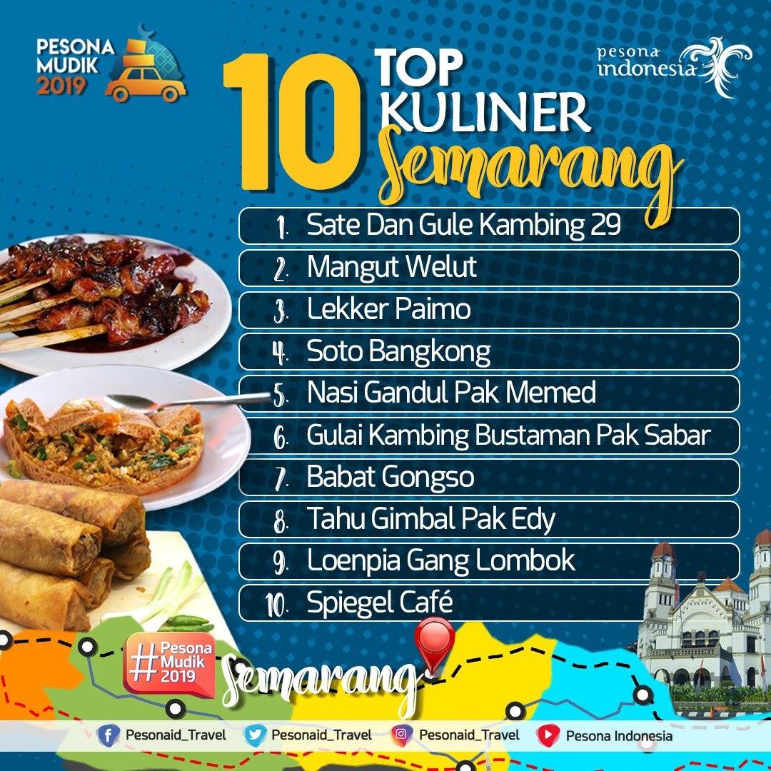 #PesonaMudik2019, Ini 10 Top Kuliner Semarang