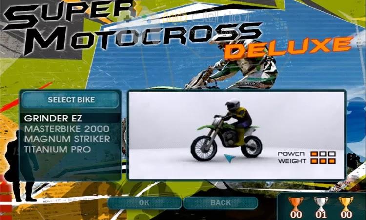 تحميل لعبة الدراجات النارية Super Motocross Deluxe برابط مباشر