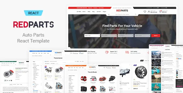 Best Auto Parts Bootstrap eCommerce Template