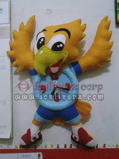 Jam Dinding Flanel Karakter Kartun Boneka Goody (Inplays School)