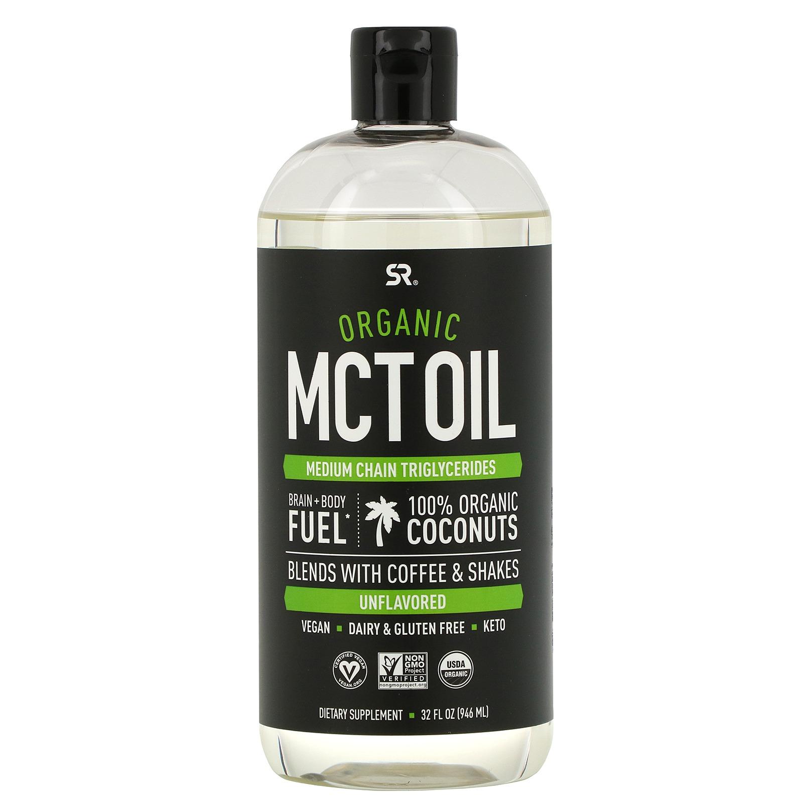 Sports Research, Органическое масло СЦТ, без запаха, 946 мл (32 жидких унции)