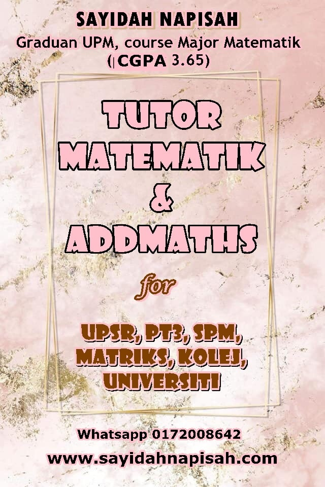 tutor matematik addmath upsr pt3 spm