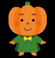 ハロウィンのキャラクター(カボチャのランタン)