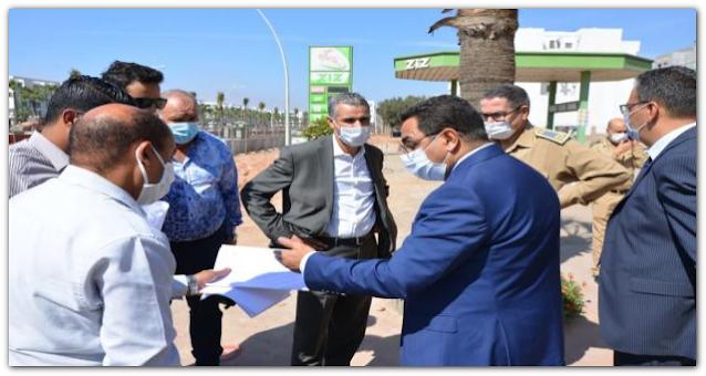 برنامج التنمية الحضرية لمدينة أكادير : والي الجهة يتتبع سير أشغال المشاريع المبرمجة