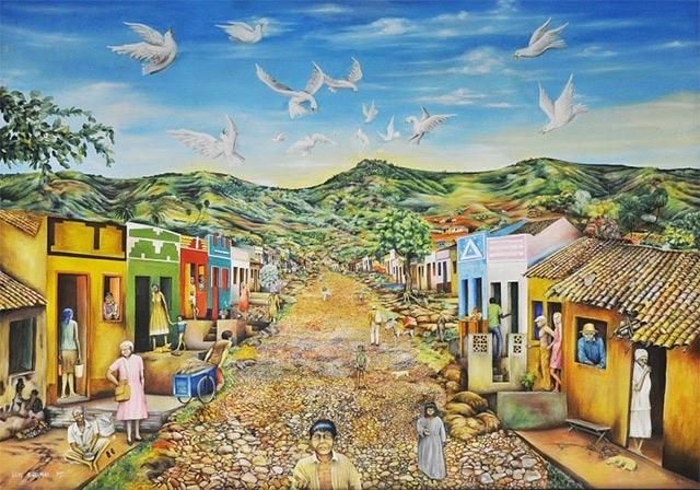 Pintura de Luís Karimai - Horto