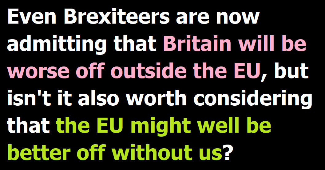 We'd be worse off without them, but would they be better off without us?