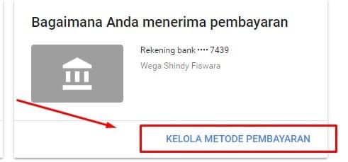 Mengelola Metode Pembayaran Google AdSense