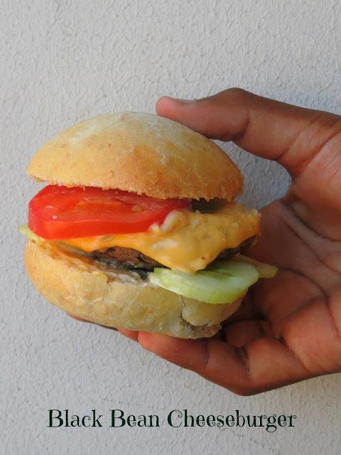 Blackbean Cheeseburger, Black Bean Burger