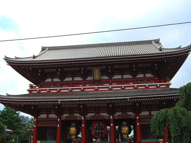 La porte du Temple d'Asakusa à traverser pour commencer votre promenade.