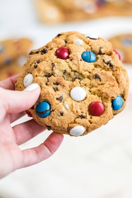 hand holding a cookie