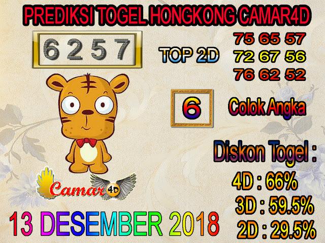 Prediksi Togel Hongkong 13 Desember 2018