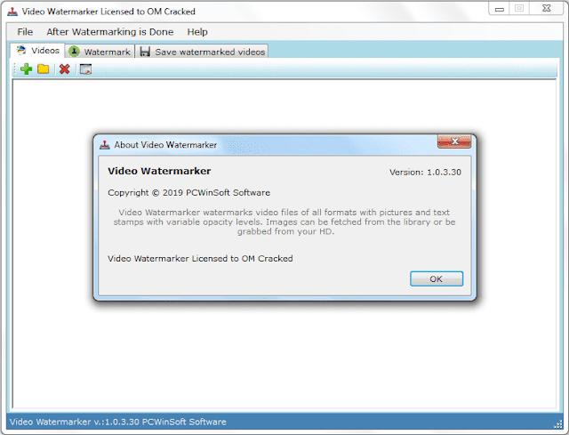 Screenshot PCWinSoft Video Watermarker 1.0.3.30 Full Version