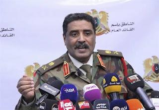 ليبيا، الجيش الليبي، المشير خليفة حفتر، أحمد المسماري، إطلاق النار، طرابلس، حكومة الوفاق،  روسيا اليوم، حربوشة نيوز