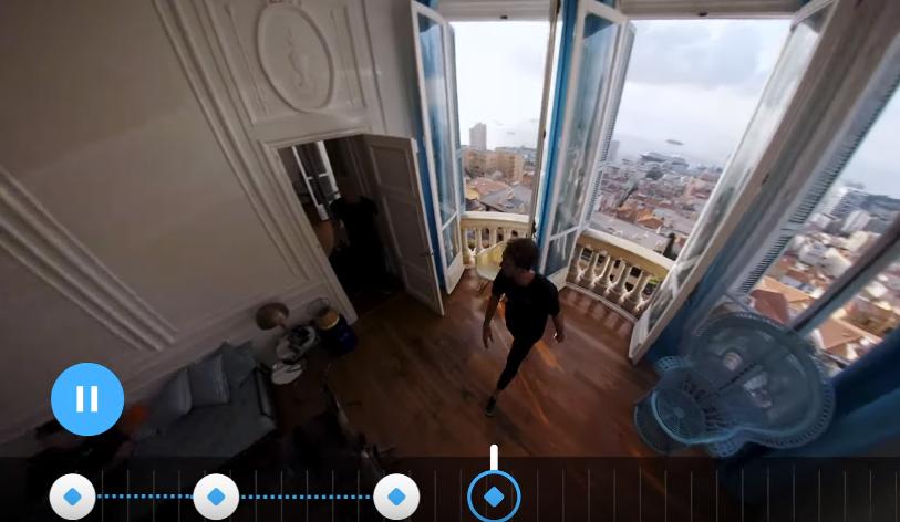 Пример работы приложения GoPro для работы 360-градусным видео