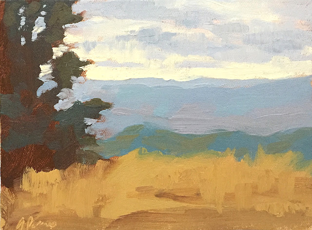Blue Ridge Vista landscape painting Apr 19 2019