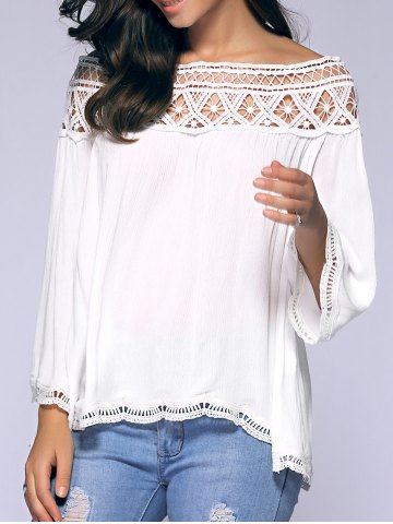 Crochet Off-The-Shoulder Blouse - White