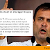 Rahul Gandhi criticises the government for losing Rs 406 crore worth of stored grains